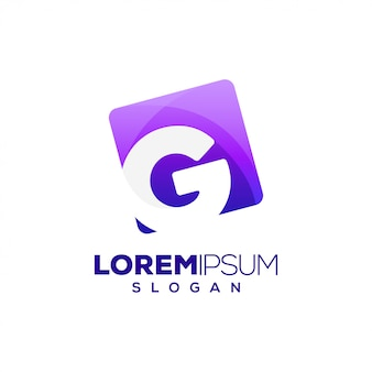 Logotipo colorido da letra g