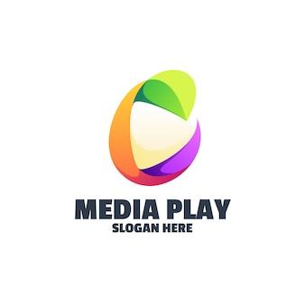 Logotipo colorido da media play
