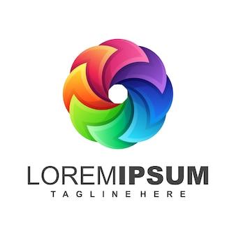 Logotipo colorido da mídia