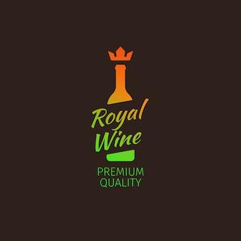 Logotipo colorido da qualidade premium do vinho real