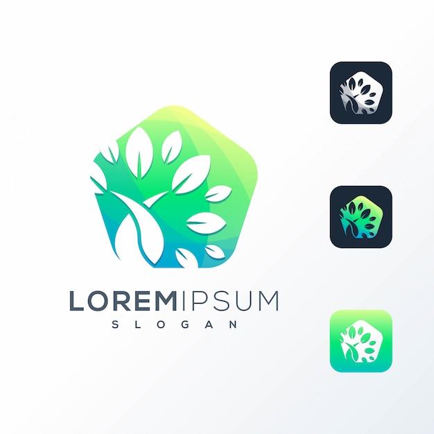 Logotipo colorido da tecnologia