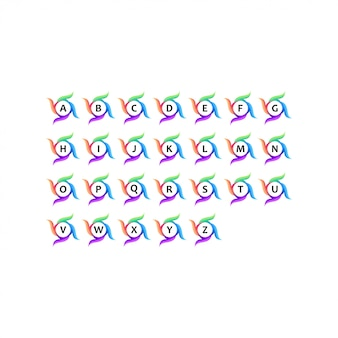Logotipo colorido de a a z