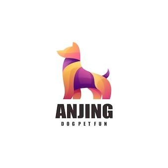 Logotipo colorido de cachorro