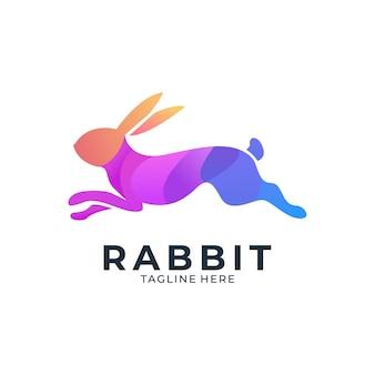 Logotipo colorido de coelho