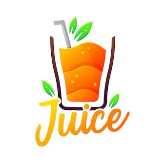 Logotipo colorido de gradiente moderno de suco