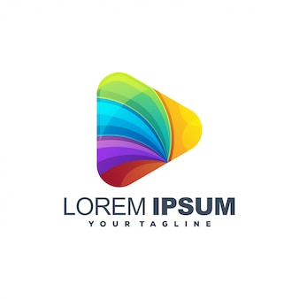 Logotipo colorido de mídia impressionante