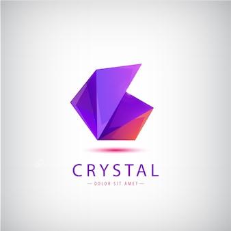 Logotipo colorido de origami abstrato isolado