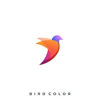Logotipo colorido de pássaro moderno