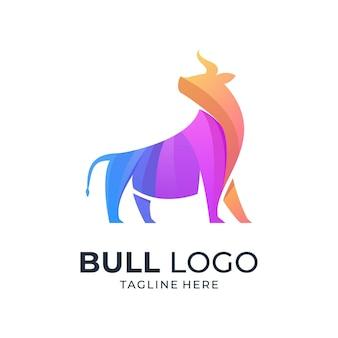 Logotipo colorido de touro