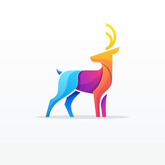 Logotipo colorido de veado