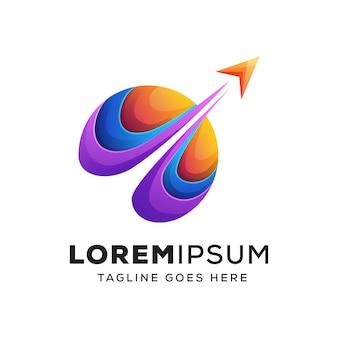 Logotipo colorido de viagens