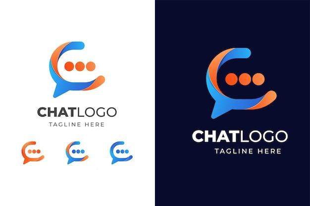 Logotipo colorido do chat