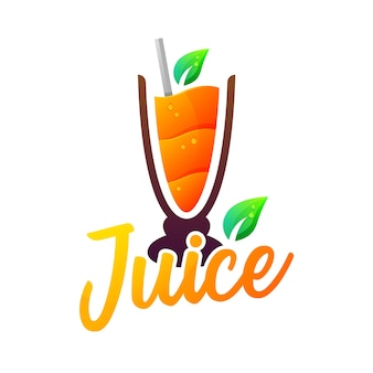 Logotipo colorido do juice modern gradient