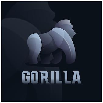 Logotipo colorido do mascote do gorila