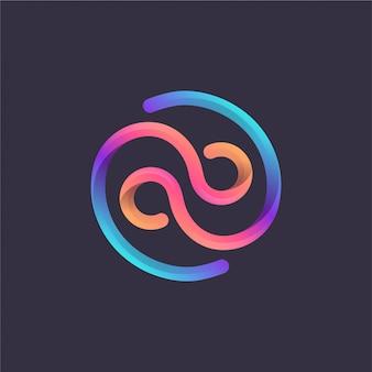 Logotipo colorido do monograma do ab
