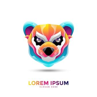 Logotipo colorido do panda