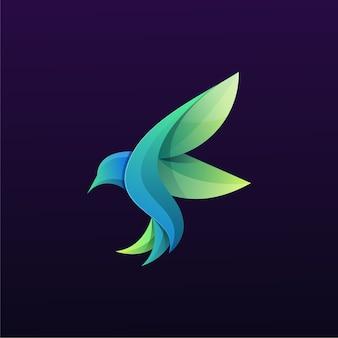 Logotipo colorido do pássaro