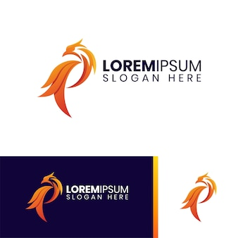 Logotipo colorido fire phoenix