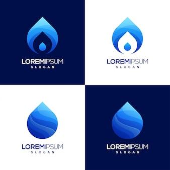 Logotipo colorido gradiente de água