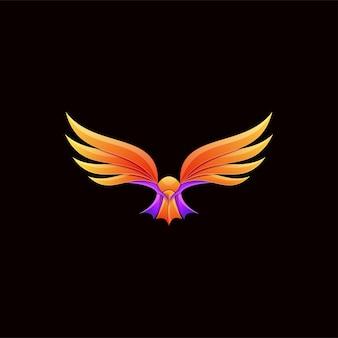 Logotipo colorido impressionante da águia voadora