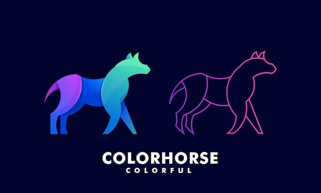 Logotipo colorido muito bonito do cavalo