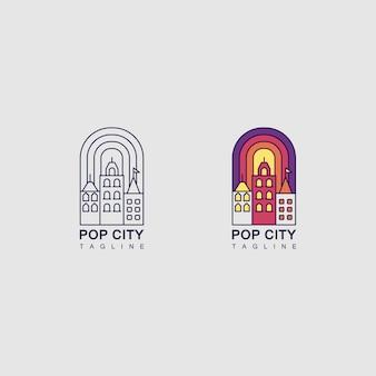 Logotipo com a cidade