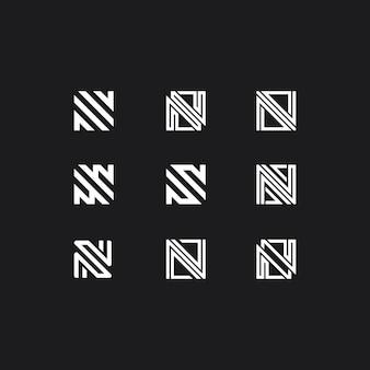 Logotipo com coleção de letra n