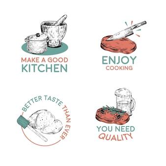 Logotipo com design de conceito de eletrodomésticos para ilustração vetorial de branding e marketing