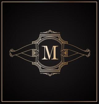 Logotipo com design de letra maiúscula