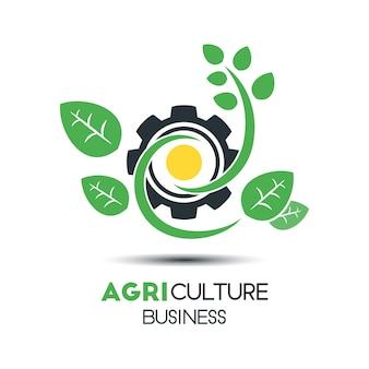 Logotipo comercial da agricultura