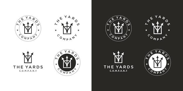 Logotipo conjunto de seta vintage emblema retrô