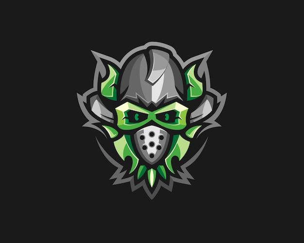 Logotipo criativo da máscara de gás
