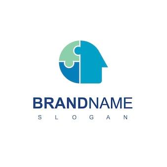 Logotipo criativo da people com o símbolo do quebra-cabeça