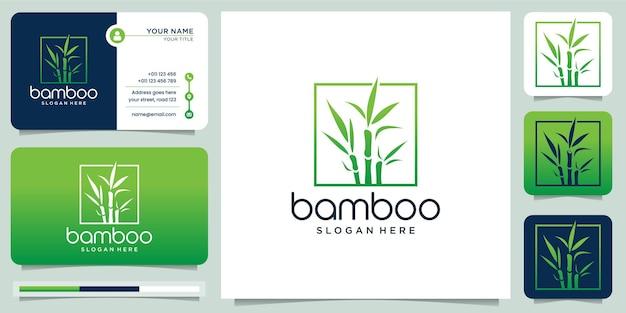 Logotipo criativo de bambu para empresa de negócios
