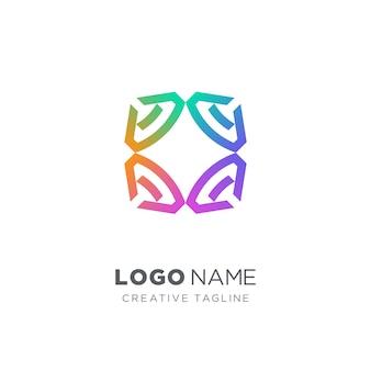 Logotipo criativo diamante colorido