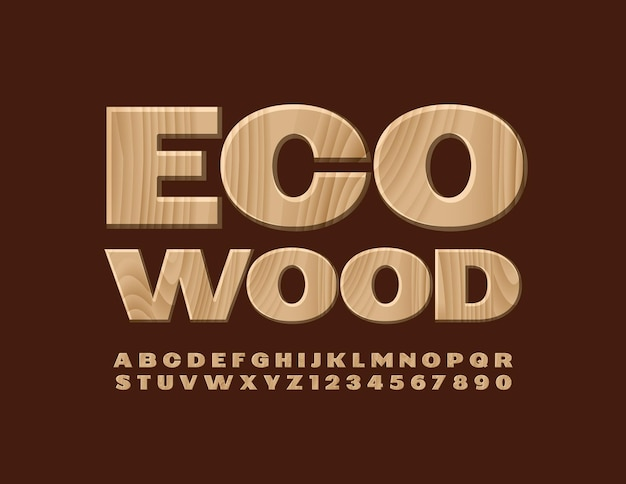 Logotipo criativo eco wood tree texture fonte padrão natural