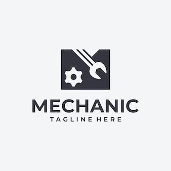 Logotipo criativo letra m, para mecânica