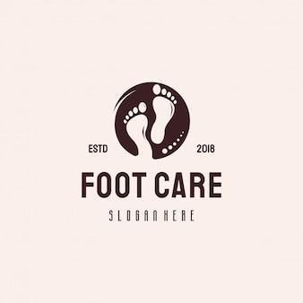 Logotipo cuidados com os pés estilo retro vintage logotipo designs vetor