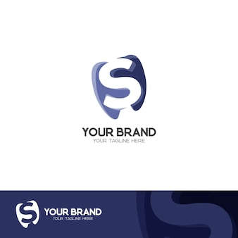 Logotipo d dental ou smile dental