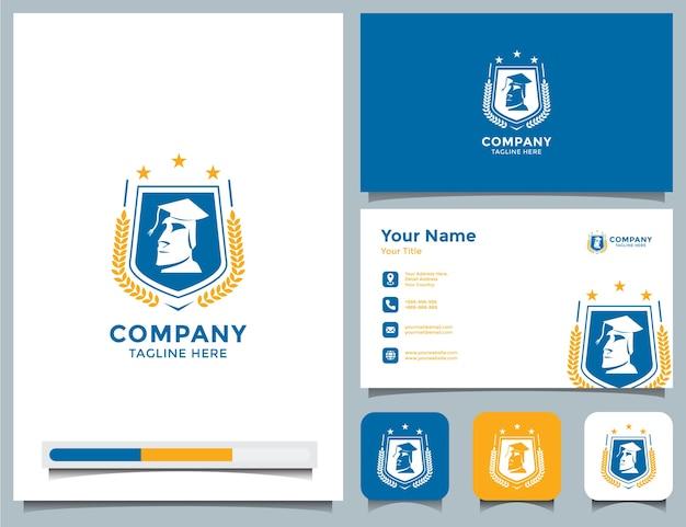 Logotipo da academia e cartão de visita