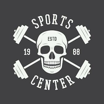 Logotipo da academia, etiqueta