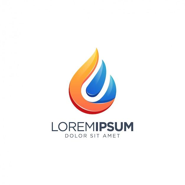 Logotipo da água do fogo