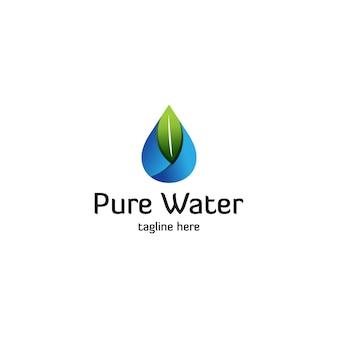 Logotipo da água pura