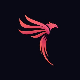 Logotipo da águia abstrato