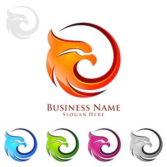 Logotipo da águia com conceito 3d