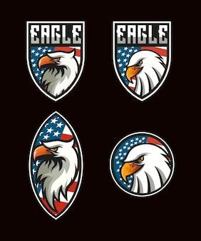 Logotipo da águia da américa