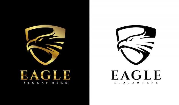 Logotipo da águia do escudo