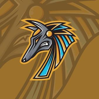 Logotipo da anubis mascot esport