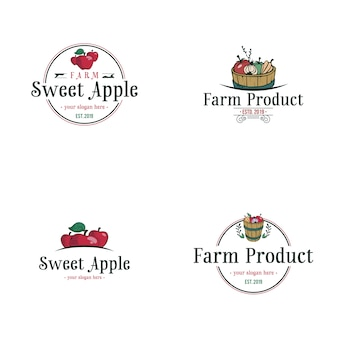 Logotipo da apple vintage