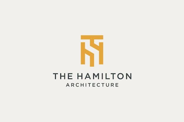 Logotipo da arquitetura premium inicial